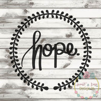 Hope Wreath SVG DXF PNG