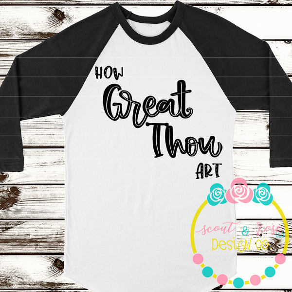 How Great Thou Art SVG DXF PNG