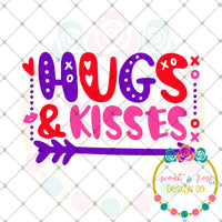 Hugs and Kisses SVG DXF PNG