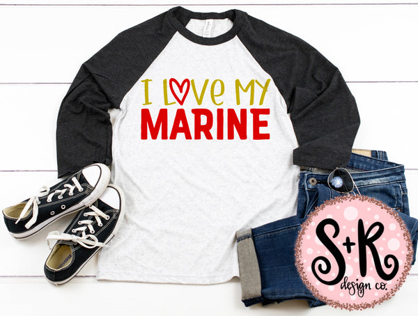I Love My Marine SVG DXF PNG (2019)