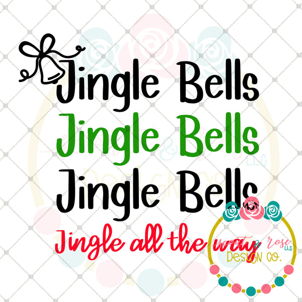 Jingle Bells SVG DXF PNG