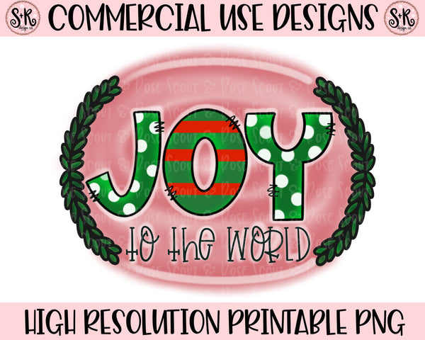 Joy To The World Red Printable Design (2019)