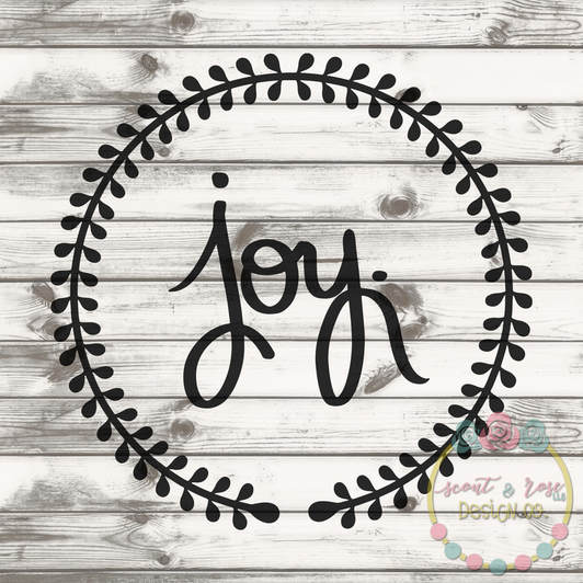Joy Wreath SVG DXF PNG