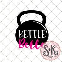 Kettle Belle SVG DXF PNG