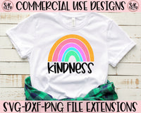 Kindness Rainbow SVG DXF PNG (2019)