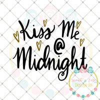 Kiss Me At Midnight 2019 SVG DXF PNG