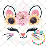 Kitty Face Floral Crown Printable Design