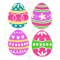 Easter Egg Set of 4 SVG DXF PNG