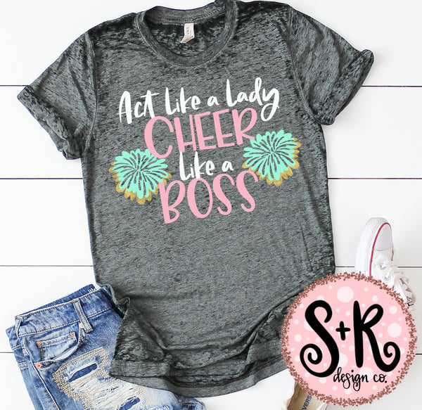 Cheer Like A Boss SVG DXF PNG (2019)