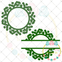 Set of 2 Laurel Frames SVG DXF PNG