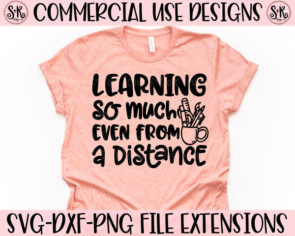 Learning From a Distance SVG DXF PNG (2020)
