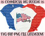 Liberty American Flag Grunge SVG DXF PNG (2020)