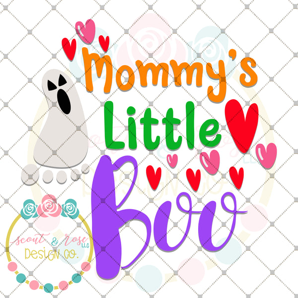 Mommy's Little Boo SVG DXF PNG