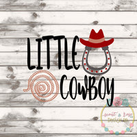 Little Cowboy SVG DXF PNG