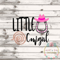 Little Cowgirl SVG DXF PNG