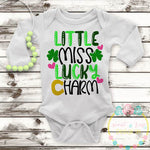 Little Miss Lucky Charm Cut File SVG DXF PNG