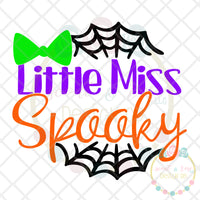 Little Miss Spooky SVG DXF PNG