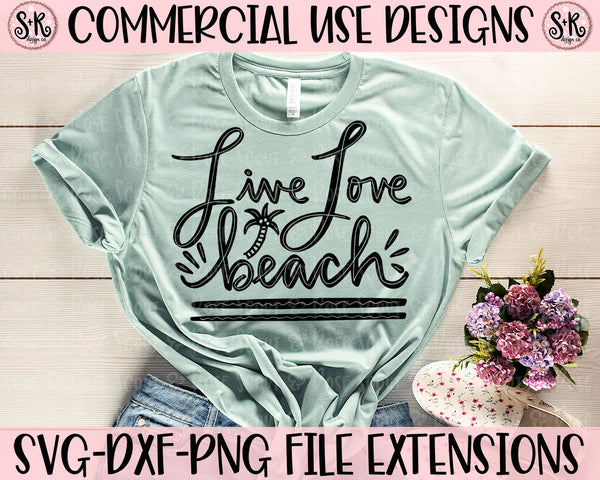 Live Love Beach SVG DXF PNG (2020)