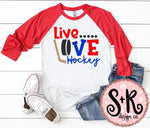 Live Love Hockey SVG DXF PNG (2019)
