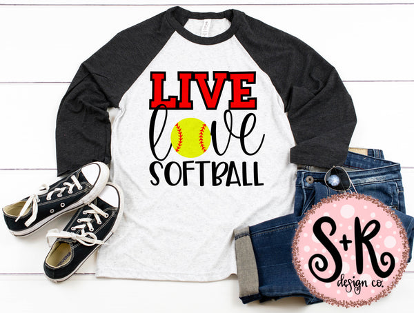 Live Love Softball SVG DXF PNG (2019)