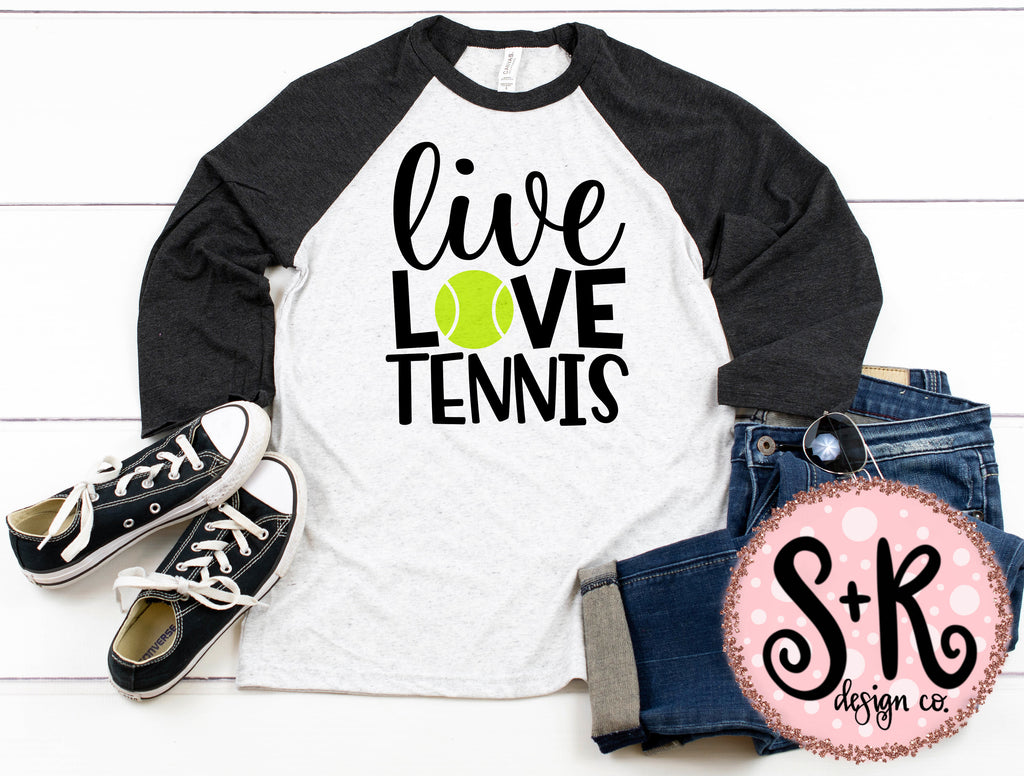 Live Love Tennis SVG DXF PNG (2019)
