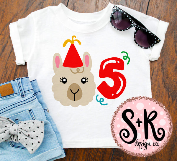 Llama 5th Birthday SVG DXF PNG (2019)