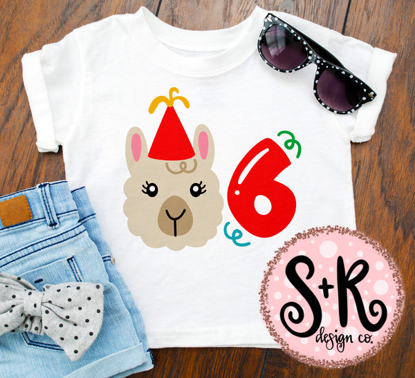 Llama 6th Birthday SVG DXF PNG (2019)