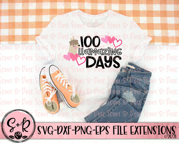 100 Llamazing Days SVG DXF PNG (2019)