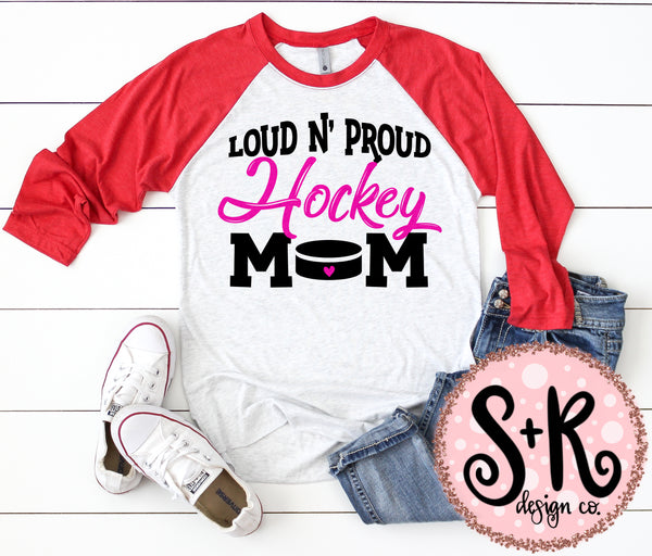 Loud n Proud Hockey Mom SVG DXF PNG (2019)