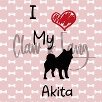 Love My Akita Cut File