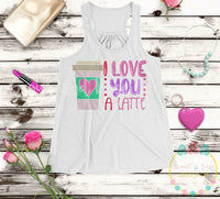Love a Latte SVG DXF PNG