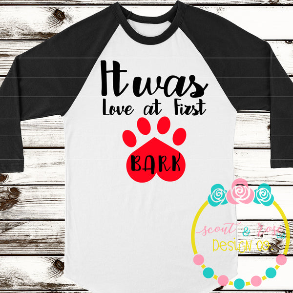 Love at First Bark SVG DXF PNG