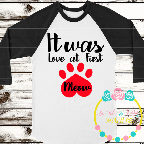 Love at First Meow SVG DXF PNG