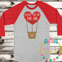 Love is in the Air Balloon SVG DXF PNG
