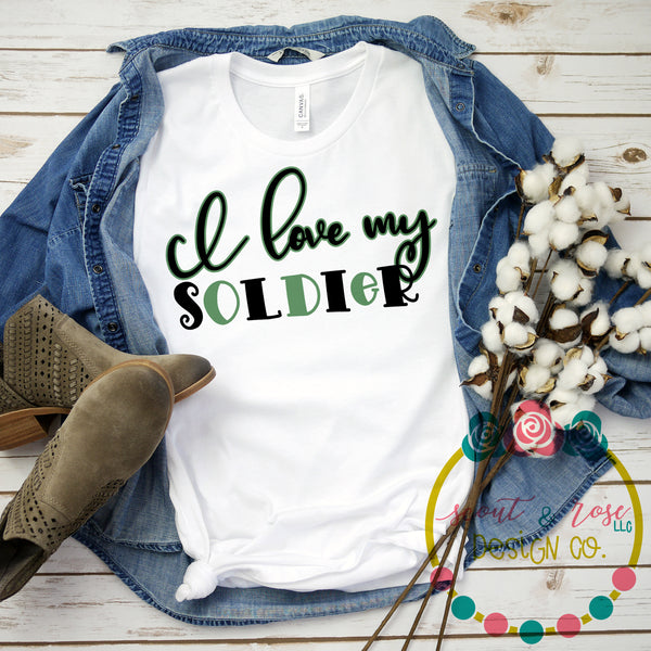 Love My Soldier SVG DXF PNG (2019)