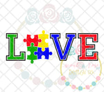 Love Autism SVG DXF PNG