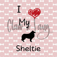 Love My Sheltie Dog Cut File