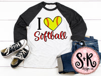 Love Softball SVG DXF PNG (2019)