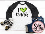 I love Tennis SVG DXF PNG (2019)
