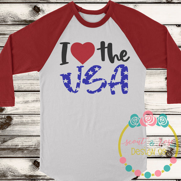 I love the USA SVG DXF PNG