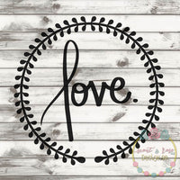 Love Wreath SVG DXF PNG