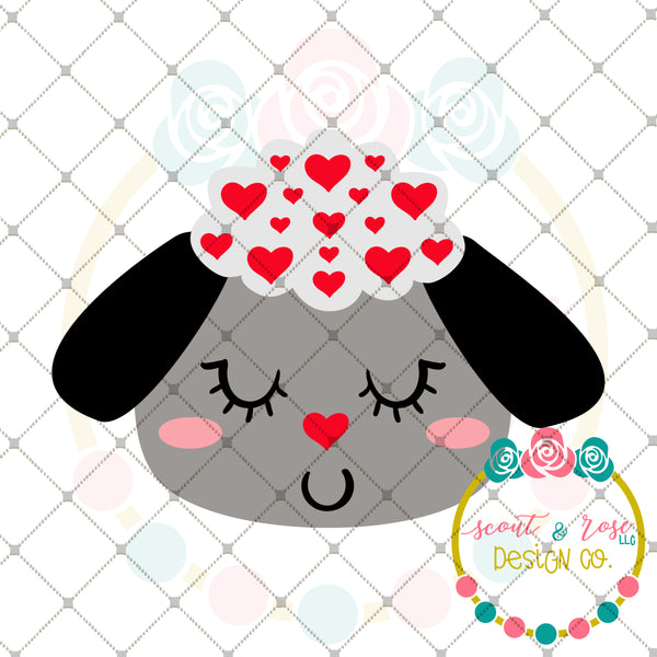 Lovey Lamb SVG DXF PNG