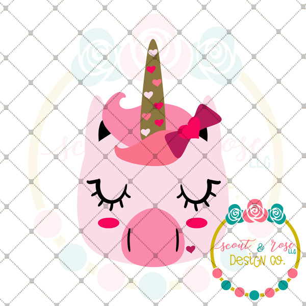 Lovey Unicorn SVG DXF PNG
