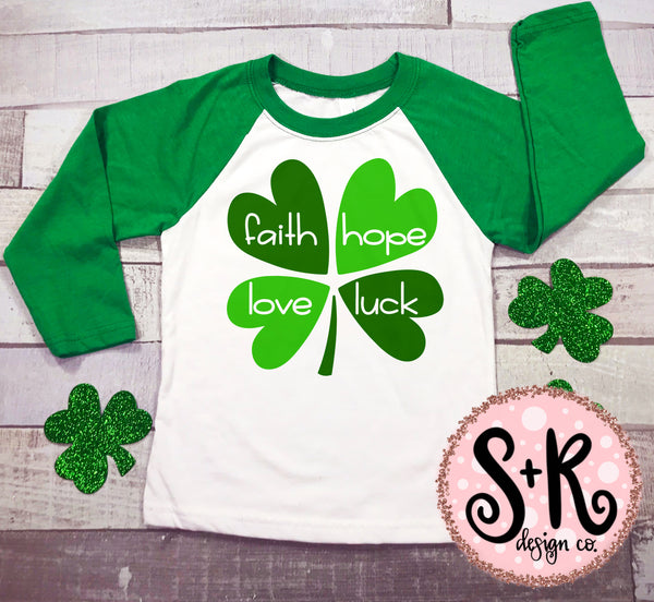 Luck of the Irish/4 Leaf Clover SVG DXF PNG (2019)