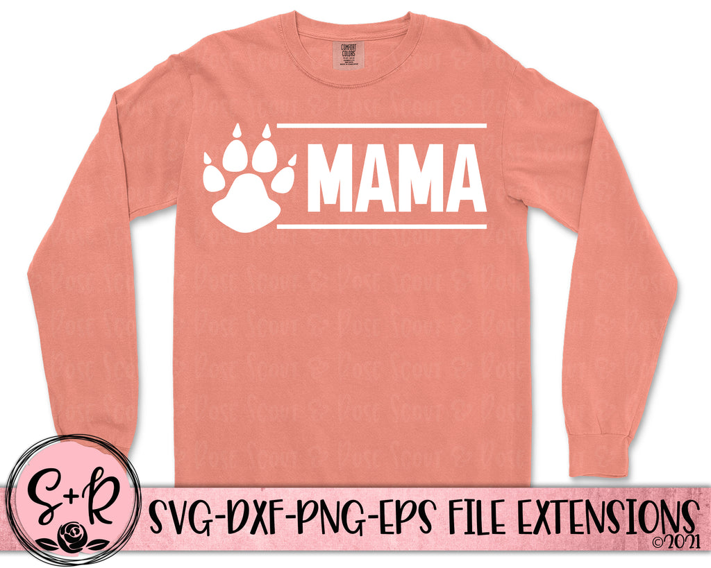 Mama Bear Paw SVG DXF PNG EPS (2018)