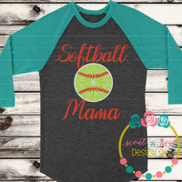 Softball Mama SVG DXF PNG