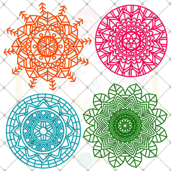 Mandala Bundle SVG DXF PNG