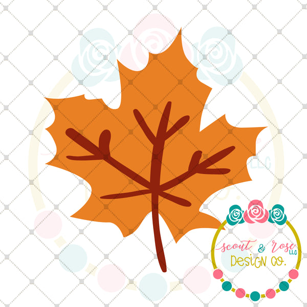 Fall Leaf SVG DXF PNG