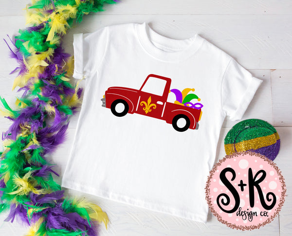 Mardi Gras Red Truck SVG DXF PNG (2019)