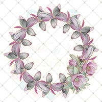Mauve and Sage Wreath SUBLIMATION Design